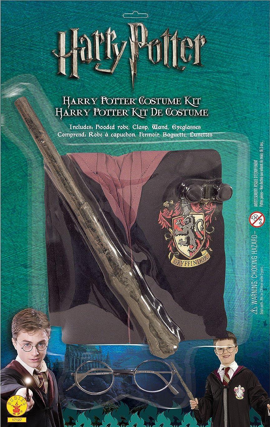 Harry Potter Deluxe Gryffondor ROBE+WAND+LUNETTES Enfants Halloween Déguisement