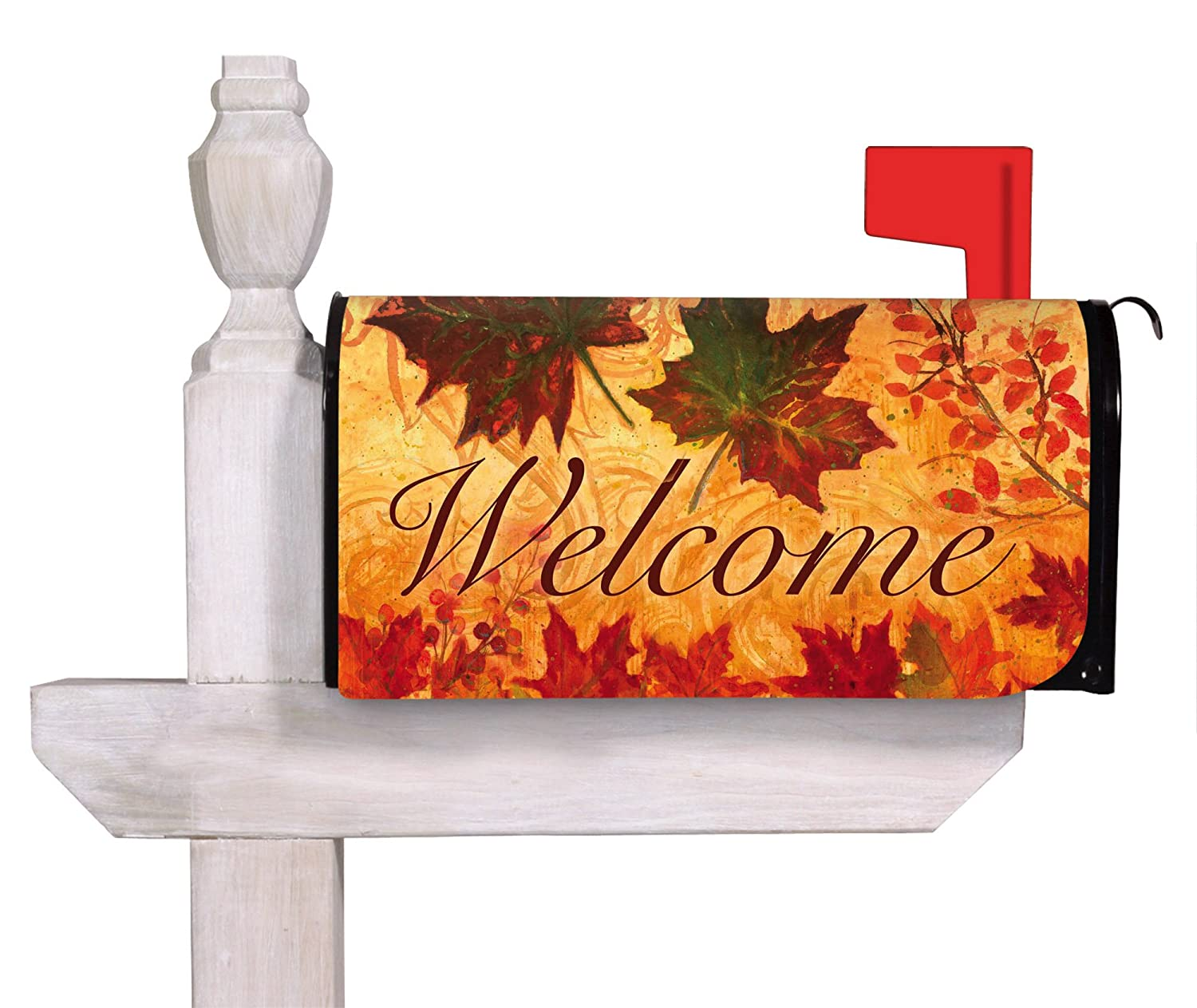 Fall Leaves Mailbox Cover 18 in. x 24 in. 56525 Evergreen Enterprises Inc