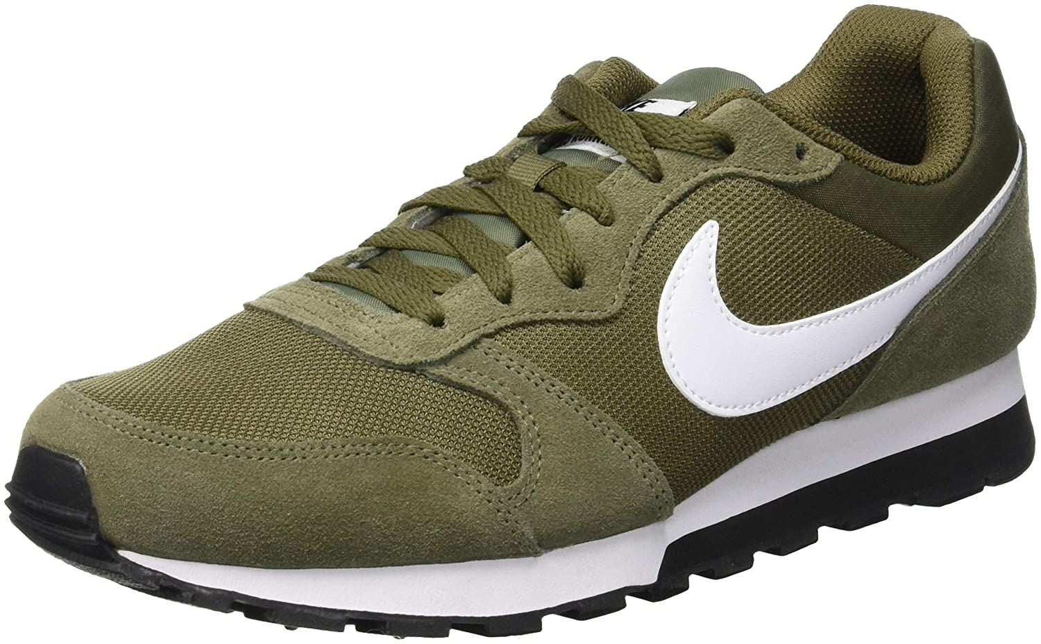 Nike MD Runner 2, Zapatillas de Running para Hombre 38.5 EU|Verde (Medium Olive/White/Black 204)