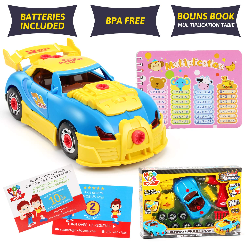 Race Car Spaceship Boys /& Girls Convertible Book Toy Set 3-6 Years Pirate Ship