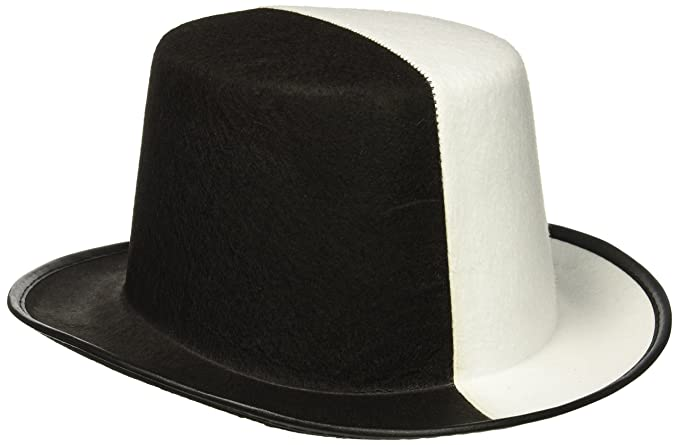 733da2e1ec200 Amazon.com  Forum Novelties Black   White Top Hat  Toys   Games