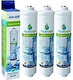 3x AquaHouse UIFH Compatible pour Haier 0060823485A Kemflo Filtre à eau Aicro pour réfrigérateurs Haier, CDA, Firstline, Frigistar