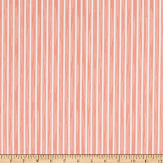product image for Martha Stewart Lily Pond Ticking Stripe Eco Canvas Coral, Fabric by the Yard