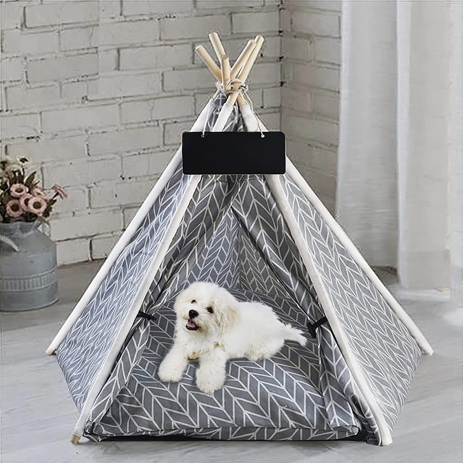 GeerDuo Pet Teepee Portable Tents for Dogs or Small P Cats Seattle Mall Brand Cheap Sale Venue