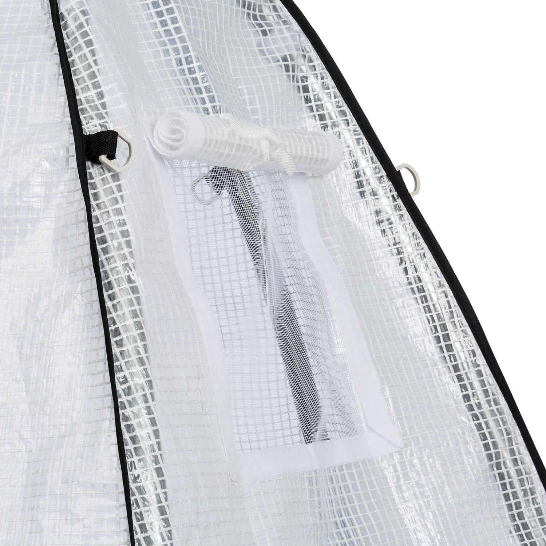 Waldbeck verdeshelter S • Serra Invernale Invernale Invernale 130 x 150 cm • Tubo d'Acciaio Ø 25 mm • PVC • Impermeabile • Resistente ai Raggi UV • Suolo Apribile • Ingresso a Finestra • Materiale per Montaggio Incluso 92443d