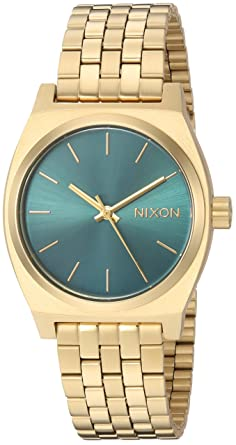 0cba5a98c7c9 Nixon Women s Medium Time Teller Japanese-Quartz Watch with Stainless-Steel  Strap