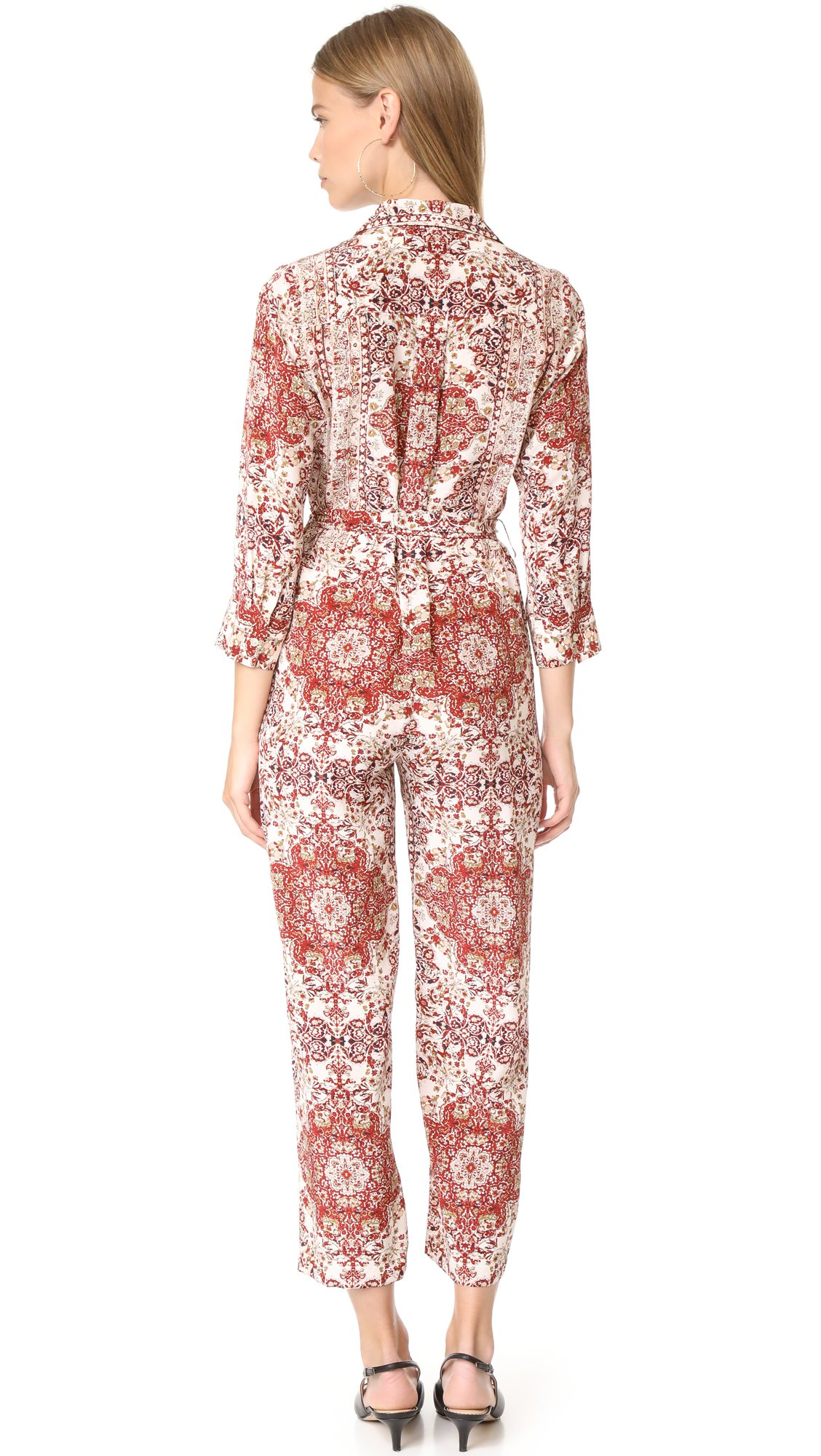 L'AGENCE Women's Delia 3/4 Sleeve Jumpsuit, Rhubarb Multi, 10 by L'agence (Image #2)