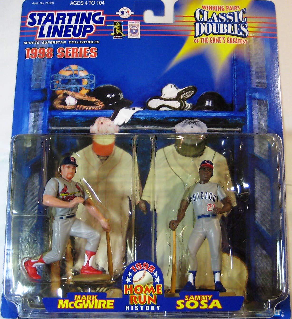 Set of 1998 Home Run History Starting Lineup Figures Mark McGwire /& Sammy Sosa