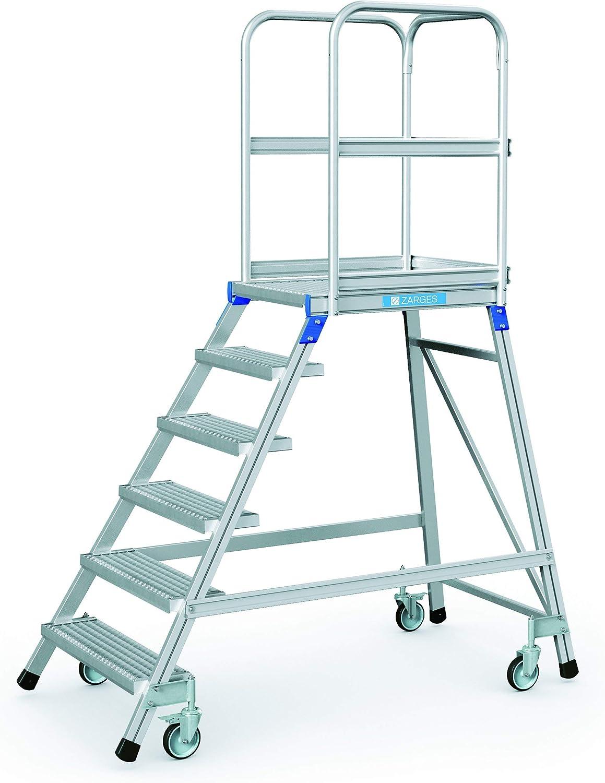Zarges podio escalera, móvil, en una sola dirección Z600 41954: Amazon.es: Bricolaje y herramientas