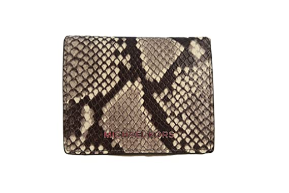 84953737fc55 Image Unavailable. Image not available for. Color: Michael Kors Jet Set  Travel Flap Embossed Leather Card ID Holder Wallet