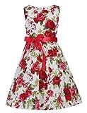 PrinceSasa Fubin Kid Girl Floral Cotton Dresses