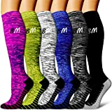 Copper Compression Socks Women & Men(6 Pairs) - Best for Running,Athletic Sports,Flight Travel, Pregnancy