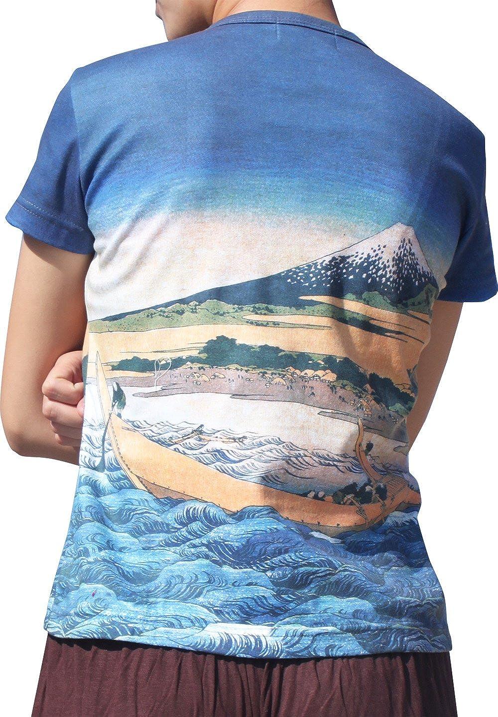 RaanPahMuang Brand Katsushika Hokusai Shore of TAGO Bay Ladies T-Shi