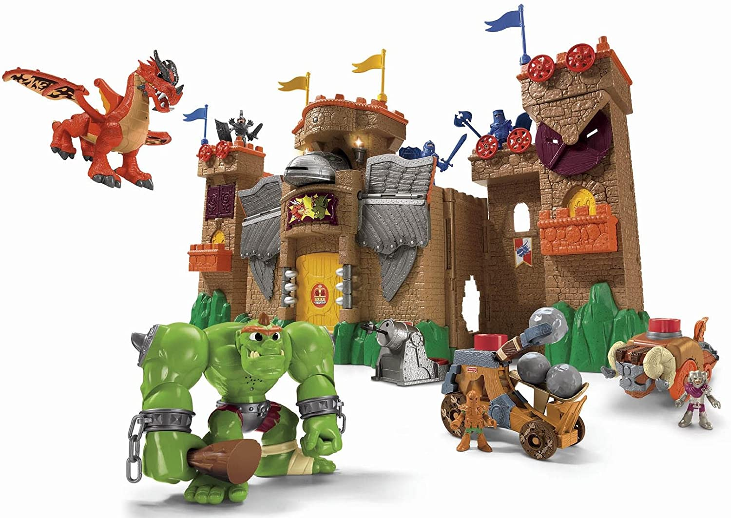 Toy Castles For Toddler Boys : Fisher price imaginext eagle talon castle review bucket