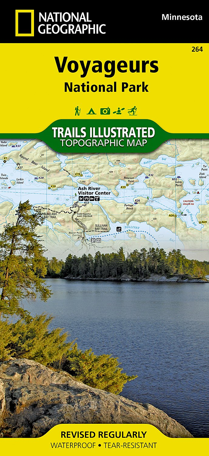 Voyageurs National Park National Geographic Trails Illustrated Map