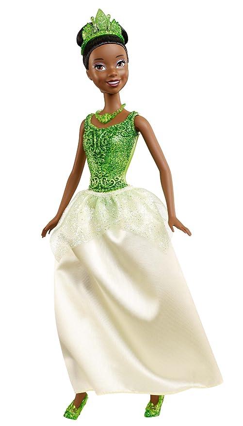 Amazon.com: Mattel Disney Princess Sparkling Princess Tiana Doll ...