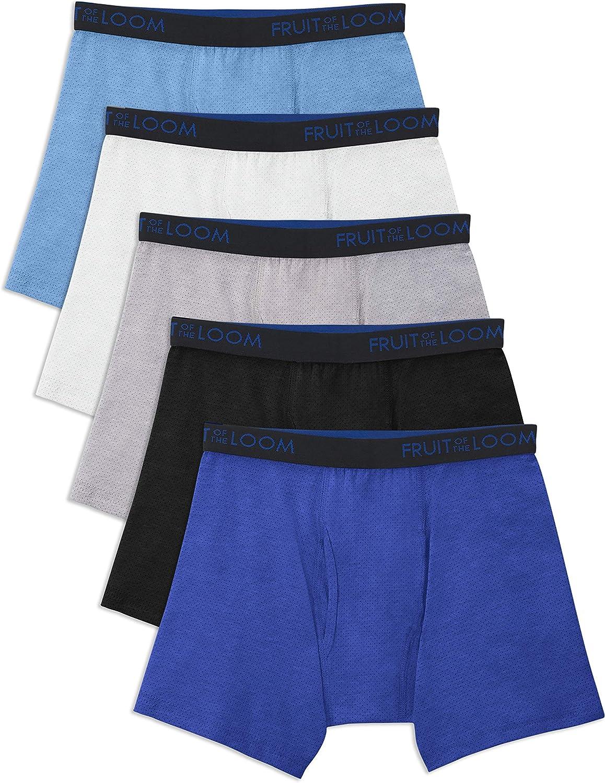 Fruit of the Loom Boys Boys Breathable Boxer Brief Underwear Multipack Underwear