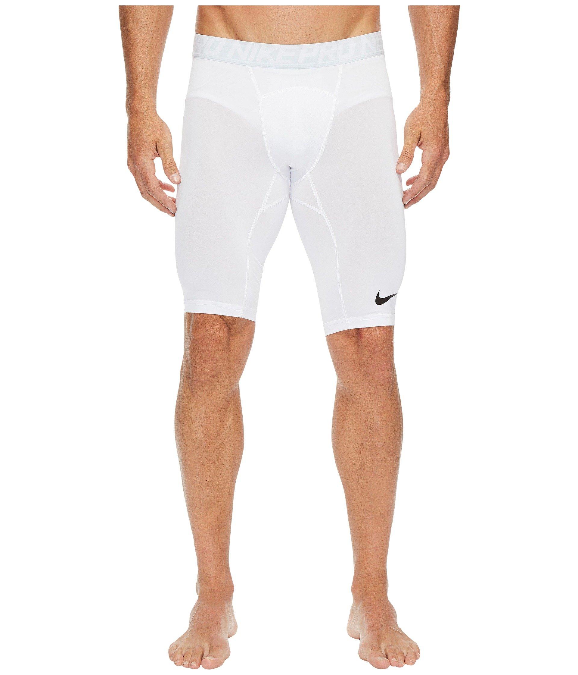 Nike Men's Pro Training Shorts, White/Pure Platinum/Black, Small by Nike (Image #1)