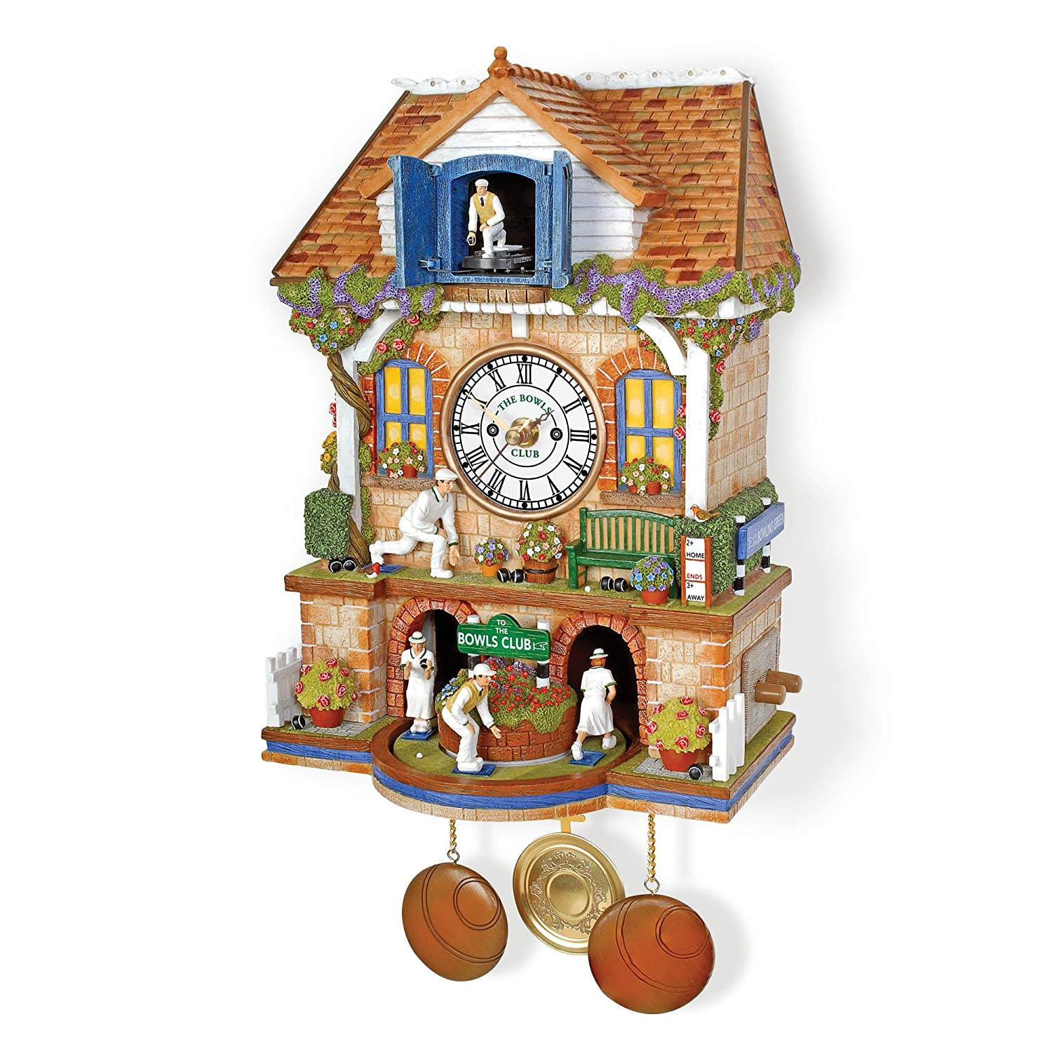 'Spirit Of Bowls' Cuckoo Clock by The Bradford Exchange