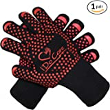 iDoCare Heat Resistant Cooking Gloves, Baking, Oven & Barbecue Gloves, Fire Gloves For Fireplace & Fire Pit, Use as Grilling Gloves & BBQ Gloves, Smoker, Grill & Kitchen Accessories