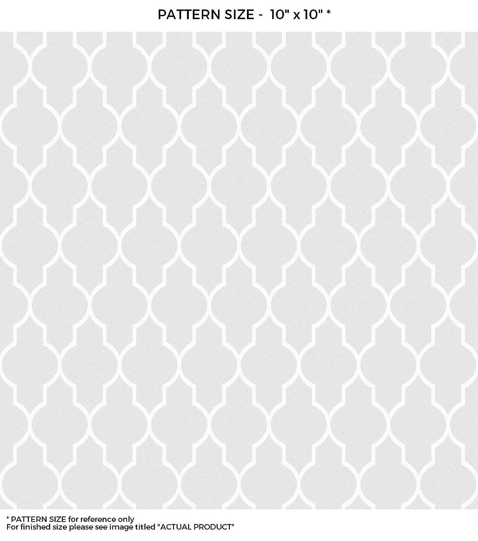 windowpixブラック&ホワイトシームレスQuatrefoilデザインステンドグラスウィンドウフィルムドアウィンドウプライバシーフィルム非粘着Static Cling Filmつや消しプライバシーウィンドウフィルム 42x84 WF-42x84-WF124-1 B00WRIMDUS 42x8442x84