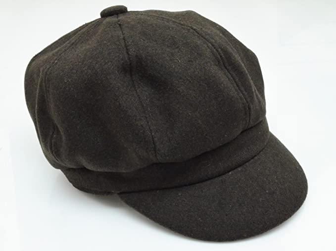Amazon.com  Wool Apple Jack Newspaper Boy Hats (Brown)  Clothing ec4c07954d9