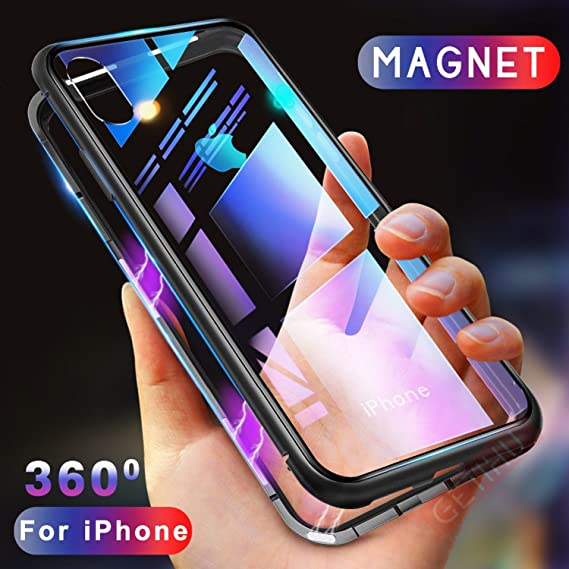 huge discount 0bb76 26476 Amazon.com: Essager Ultra Magnetic Adsorption Phone Case For iPhone ...