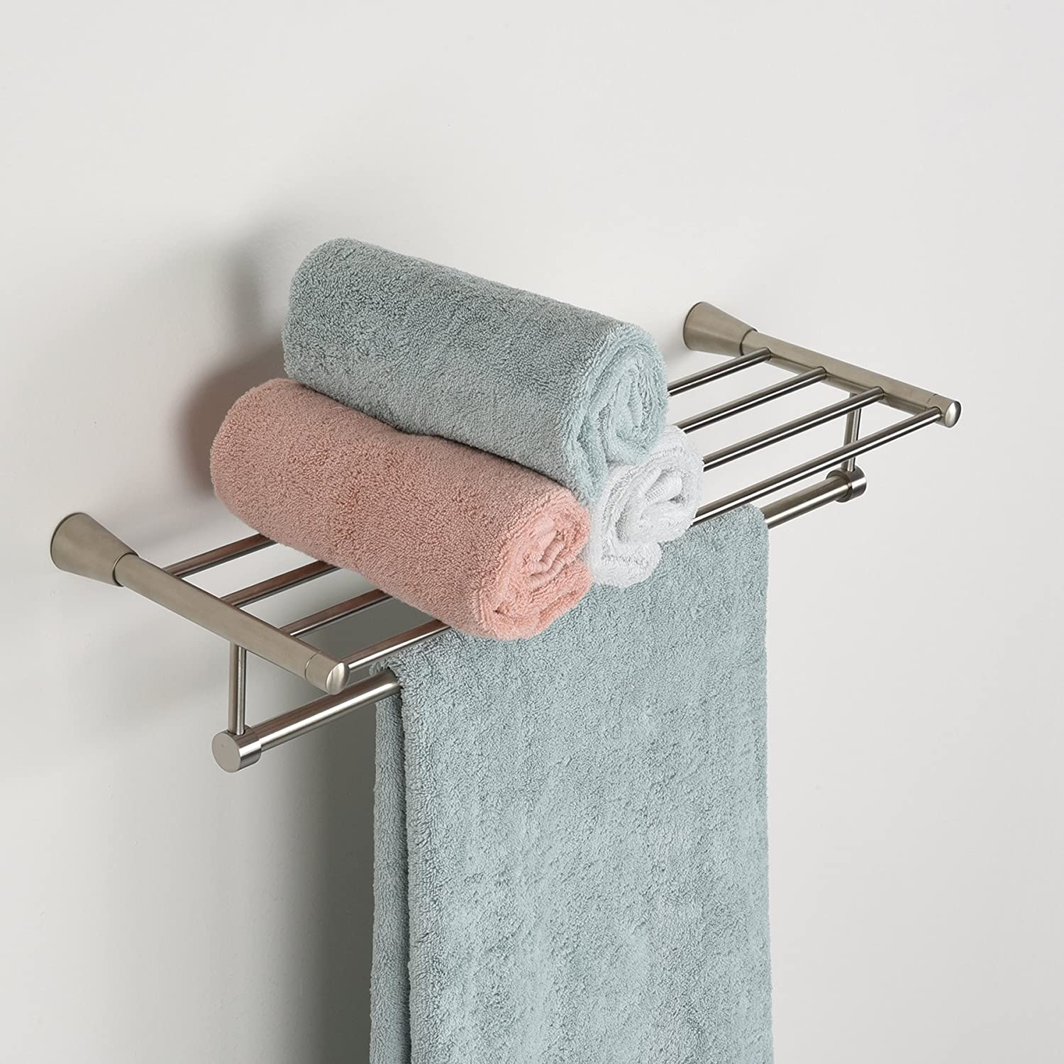 Amazon.com: MAYKKE Soma Towel Rack for Bathroom or Kitchen, Brushed ...