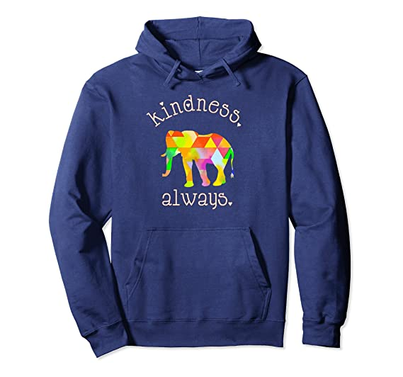 KINDNESS ALWAYS PEACEFUL ELEPHANT STATEMENT HOODIE
