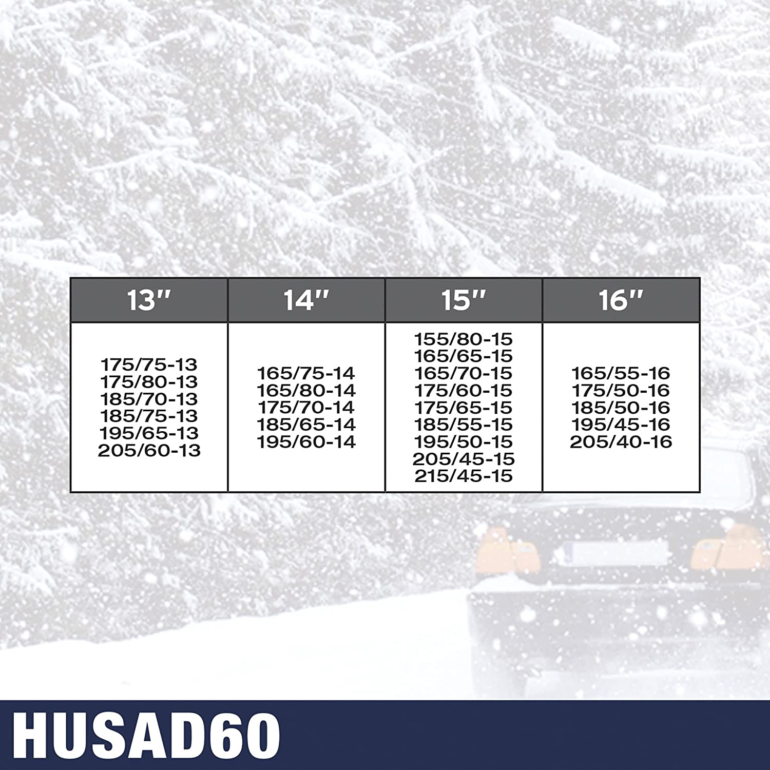 SUMEX Husad60 - Cadenas De Nieve Husky Advance 9 mm, O - Normal, Kn60: Amazon.es: Coche y moto