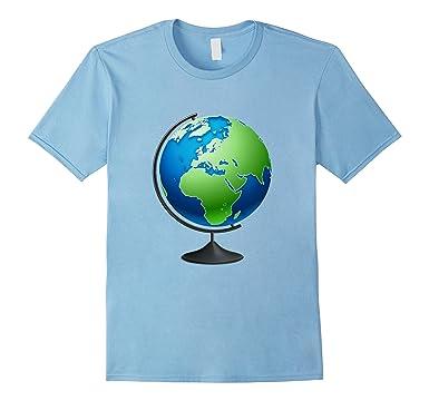 Amazon world globe map enthusiast t shirt clothing mens world globe map enthusiast t shirt 2xl baby blue gumiabroncs Images