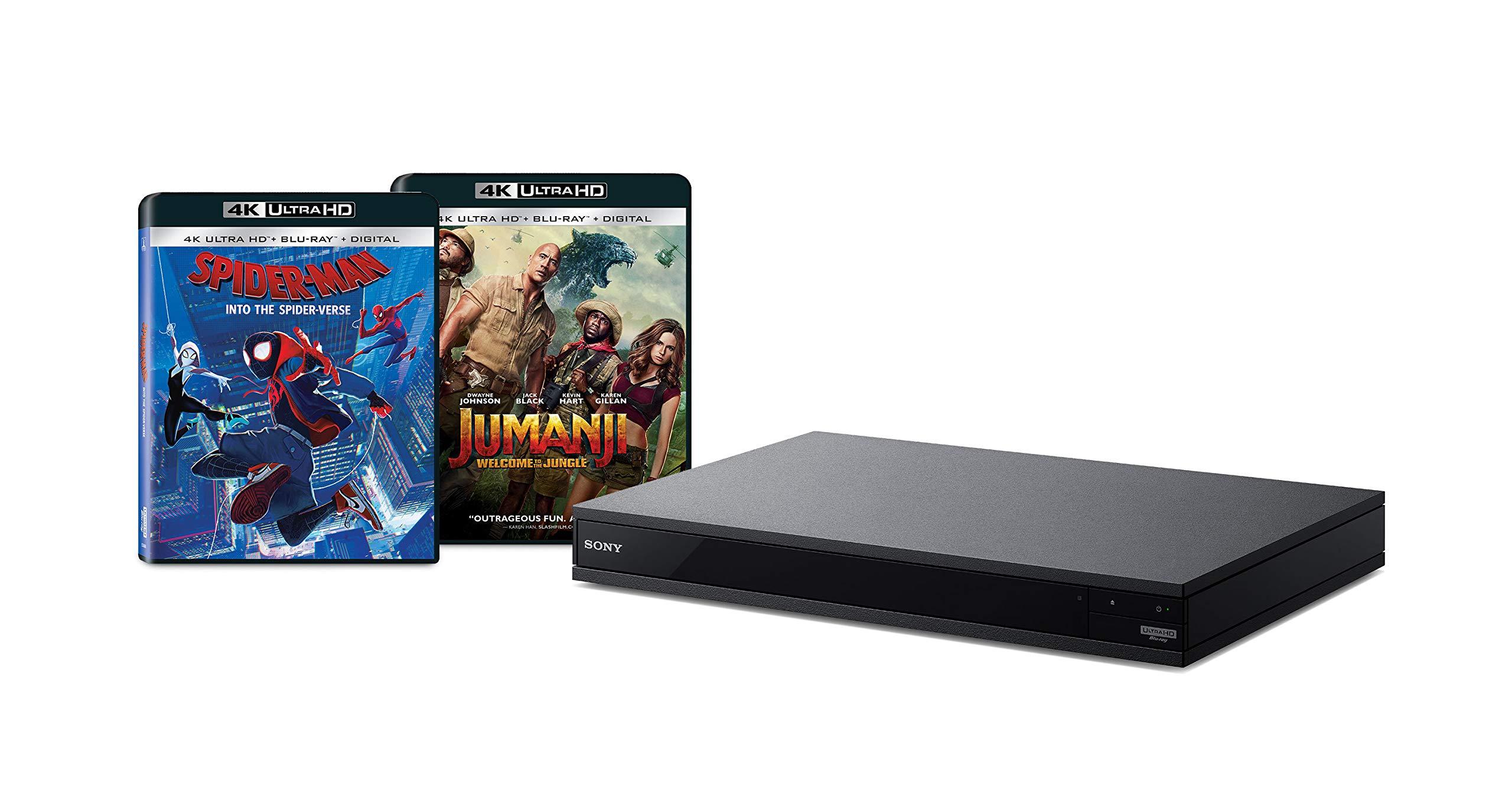 Sony UBP-X800M2 4K UHD Blu-Ray Disc Player with 2 4K Ultra HD Movies