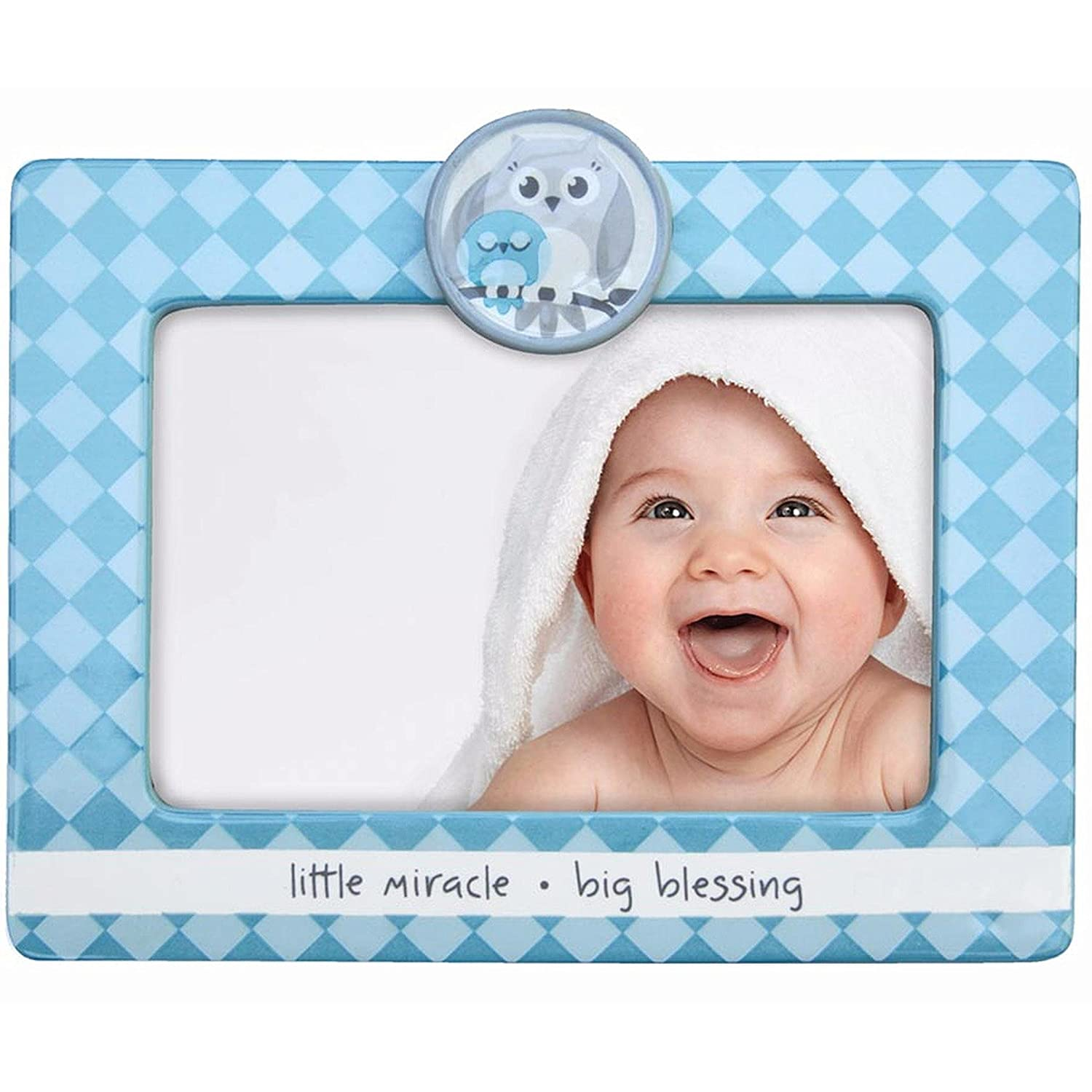 Adorable Little Miracle - Big Blessing Blue Baby Frame - 4x6 Enesco 4043086