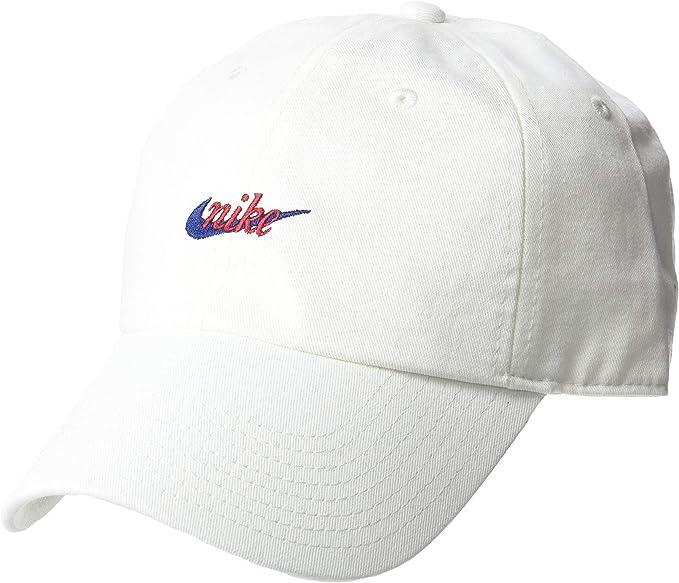 Nike Sportswear Gorra de béisbol, Blanco (Sail/Red Crush 133 ...