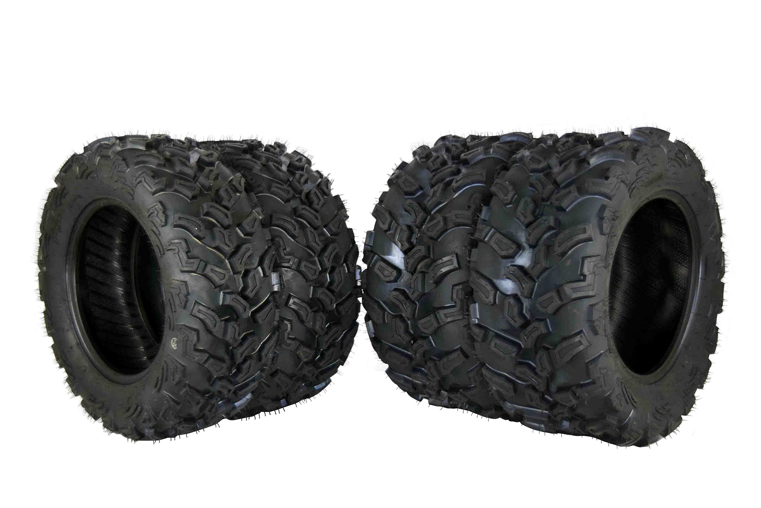 MASSFX 4 Set ATV Tires 27x9-14 Front 27X11-14 Rear Durable Dual Compound 6 Ply