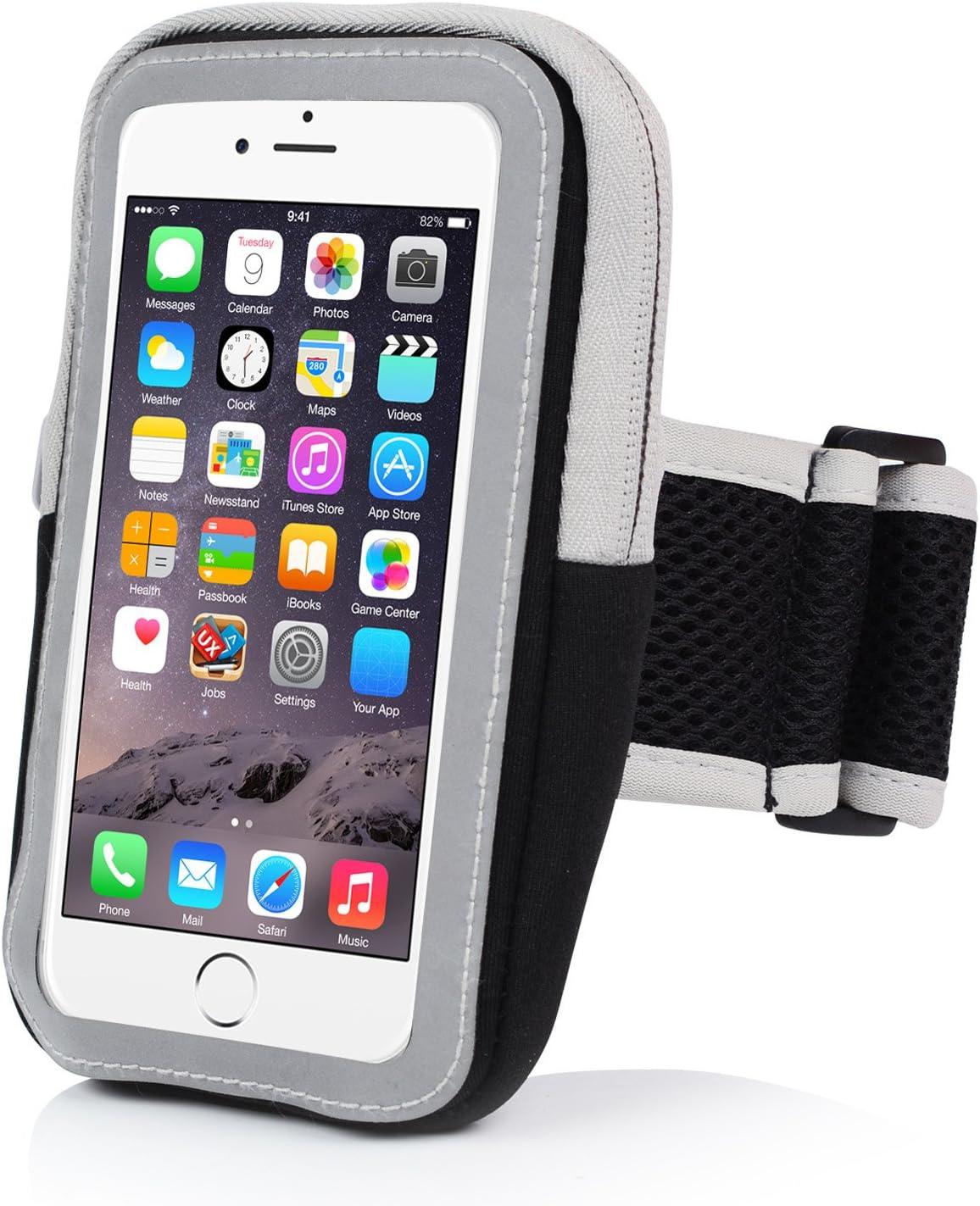 Brazalete SPORT iPhone 6/6S, – Funda Armband Case de Smartphone anti-sueur con correa ajustable y llavero Sweatproof para iphone 6/6S/Samsung Galaxy/Sony/Huawei inferior con 4.7
