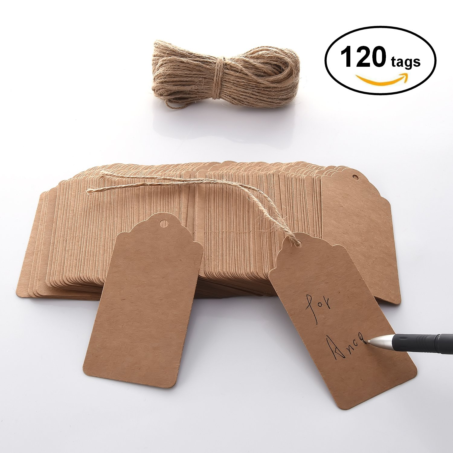 Best rated in gift wrap tags helpful customer reviews amazon christmas days kraft paper tags craft hang tags with free 100 ft natural jute twine jeuxipadfo Choice Image