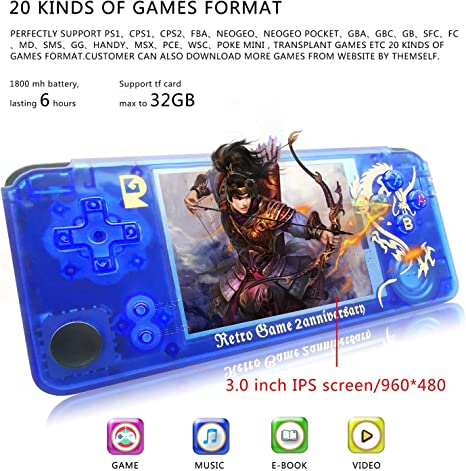 Pocket Game Console 3000 Games Classic Game Case Handheld Game Console Support for Downloading Multi Format Games for Classic Game Fans