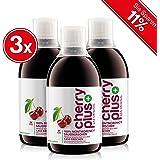Cellavent Healthcare Cherry PLUS - Das Original: 100% naturreines und hochkonzentriertes Montmorency-Sauerkirschsaft-Konzentrat / 1500 ml (3 x 500 ml)