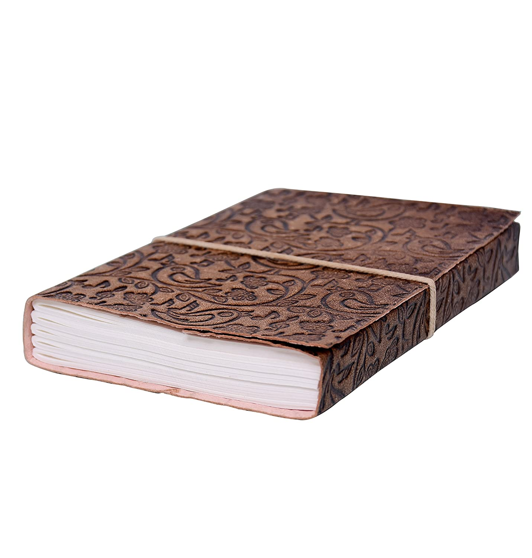 Purpledip pelle agenda/diario/Notebook Nature' s Music: naturalmente curati carta rivestita in pelle copertura per regalo aziendale o personali Memoir (10525)