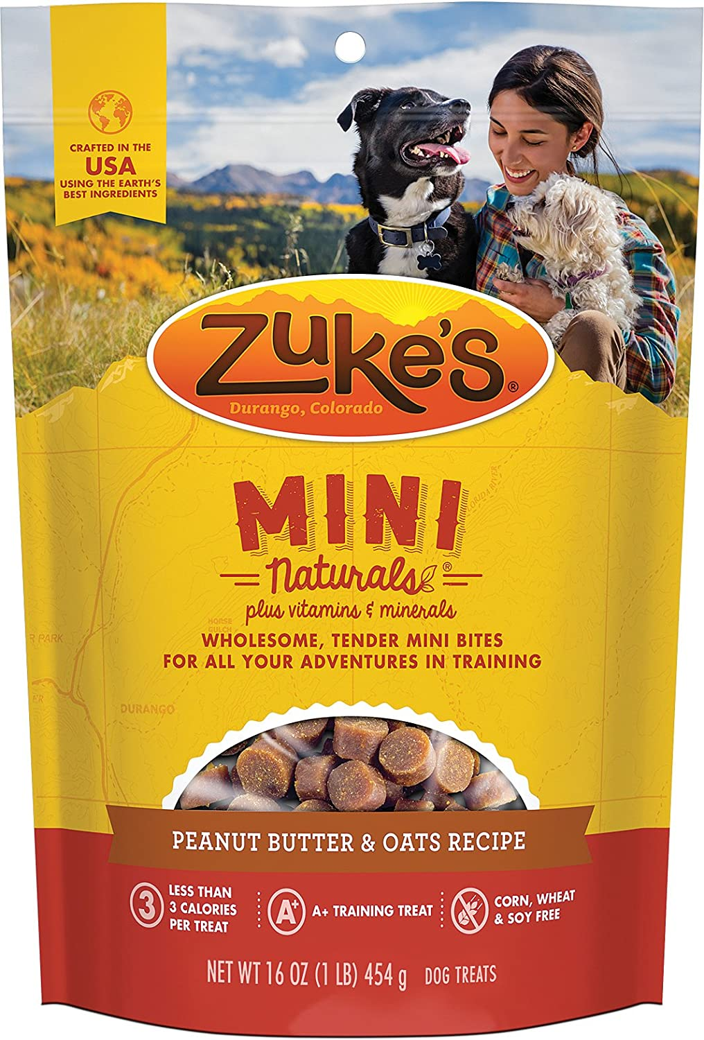 Zuke s Mini Naturals Dog Treats, Fresh Peanut Butter Formula, Pack of 1