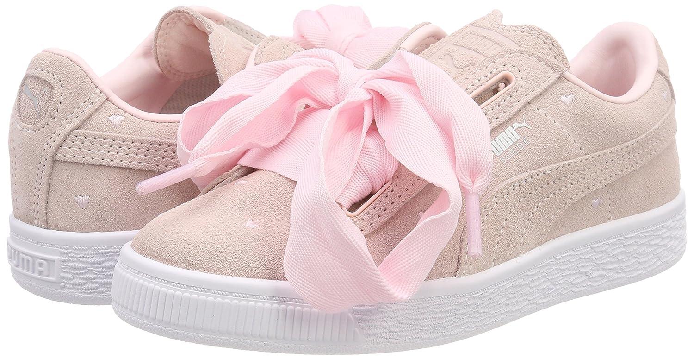 Scarpe Puma Kids Bimba Suede Heart Valentine PS Rosa 365136 | eBay