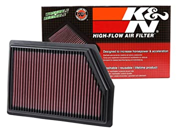 K&N Engineering 33-2493 Multi Hyundai Santa Fe L4-2 0LF/I, 2013-2016  Replacement Air Filter