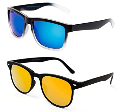 abff28d81f TheWhoop Combo Mirror Blue And Orange Wayfarer Unisex Sunglasses For ...