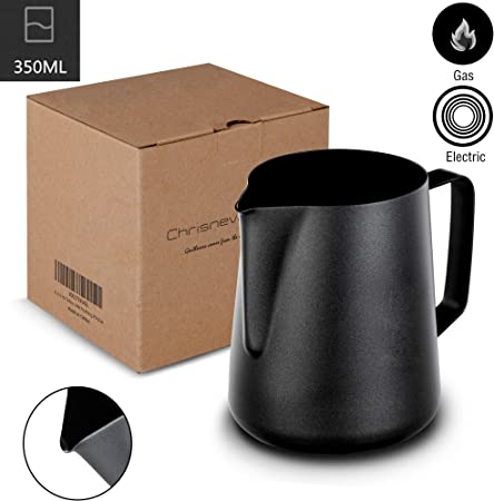 Amazon.com: Jarra para espumar leche, coffee4u de acero ...
