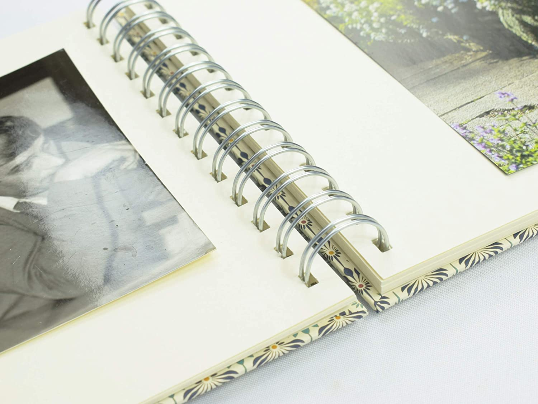 25 Blatt hochwertiges Fotobuch mit cremewei/ßen Seiten zum selbstgestalten 50 Seiten 30x22cm libralides Fotoalbum mit Spirale Spiralbuch f/ür Photos quer