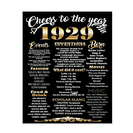 Amazon Lucia And Luciana 1929 Birthday Poster 90th