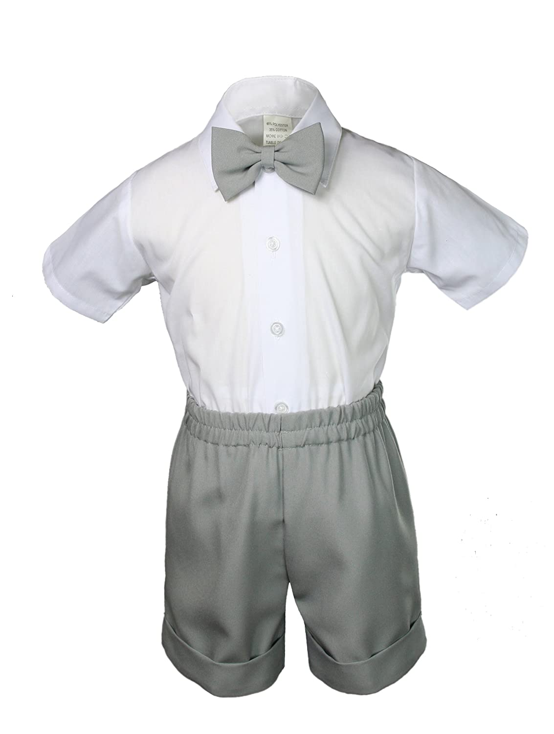 New Infant Boy /& Toddler Formal Vest shorts Suit New born to 4T Stone Khaki
