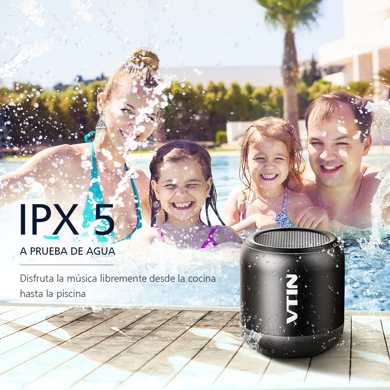Amazon.com: Vtin IPX5 Altavoz Bluetooth Extra-Portatil Impermeable con Graves Mejorados: Electronics