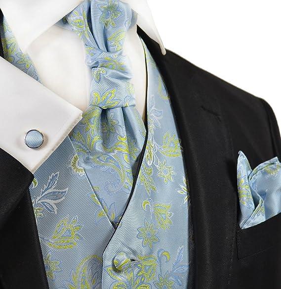 Amazon.com: Cielo azul y verde chaleco de boda con Tie ...